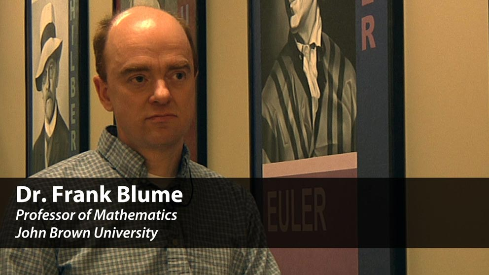 Meet Math Professor Dr. Frank Blume