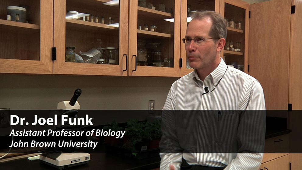 Meet Biology Professor Dr. Joel Funk