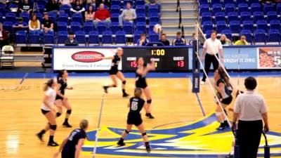 JBU vs. Texas Wesleyan Volleyball Highlight