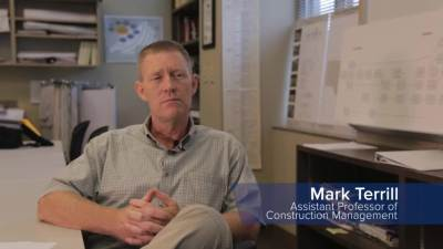 Listen to professors and students talk about the Construction Managment Major.