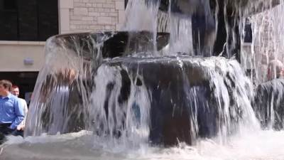 Cathdral Plaza Fountain Dedication
