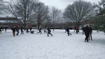 2015 Snowball Fight on the Quad