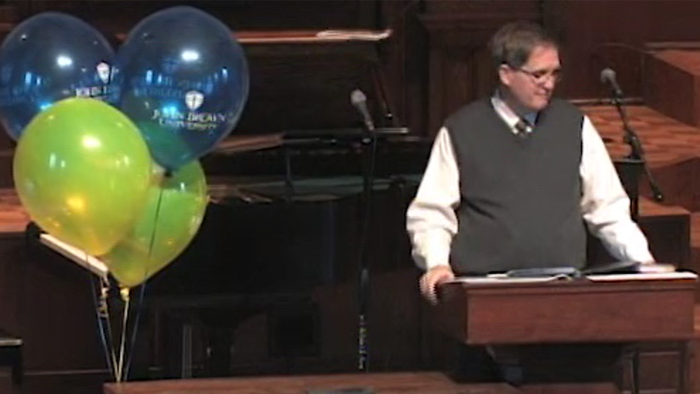 Chapel- President Pollard (January 12, 2012)