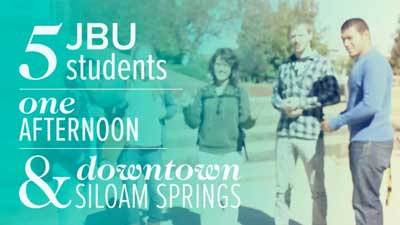 Students in Downtown Siloam Springs