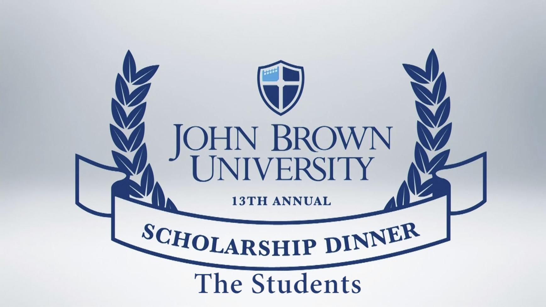 2016 Scholarship Dinner Students