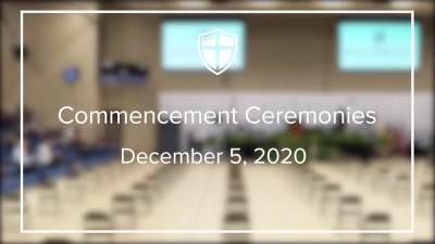 Commencement Ceremonies Fall 2020