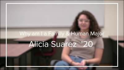 Why I am a Family and Human Major Alicia
